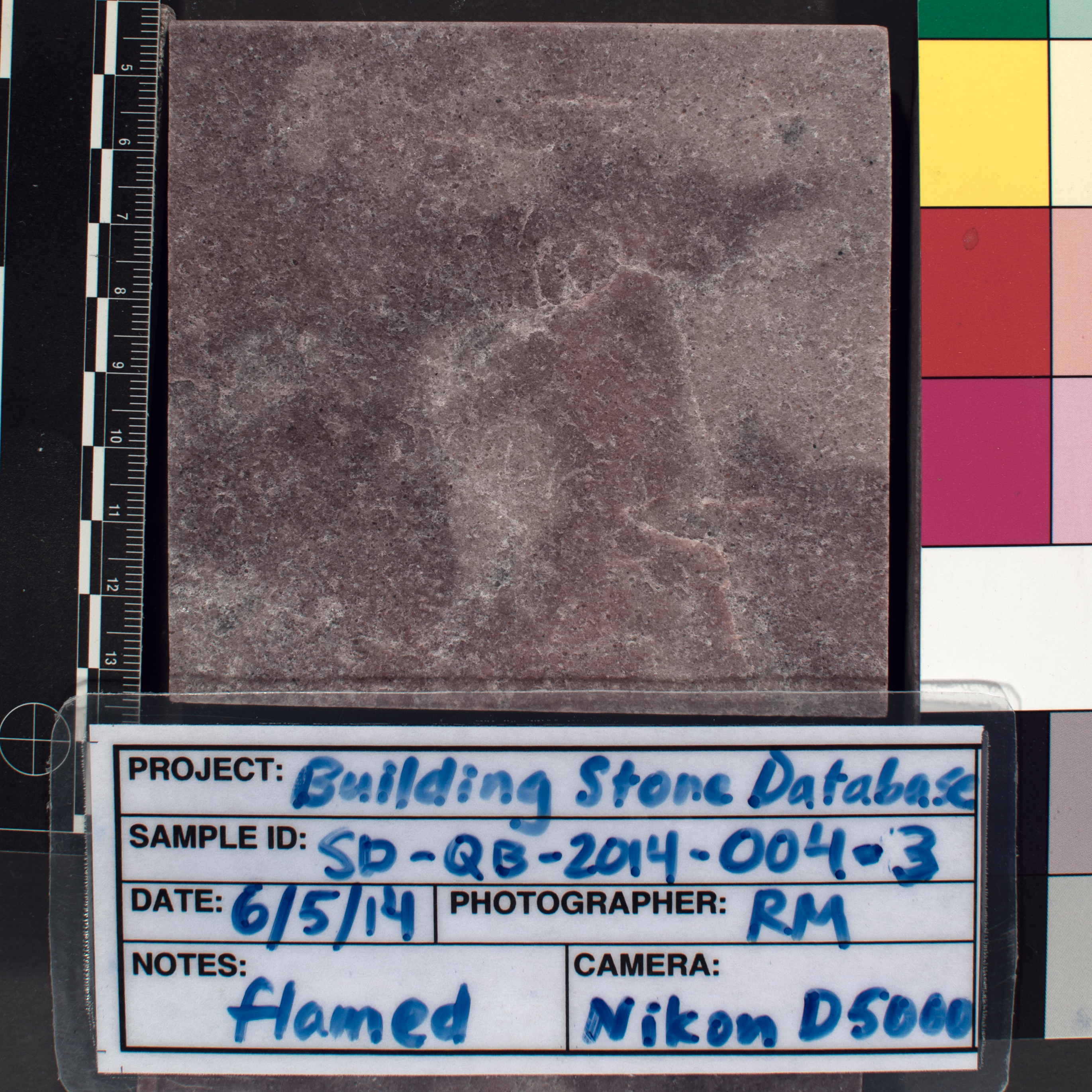 Image of specimen in dry conditions. Finish: Flamed