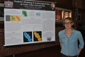 Lindsey Cochran presents on Predictive Modeling of Archaeological Sites in Death Valley National Park at the annual Preservation in Your Community event.