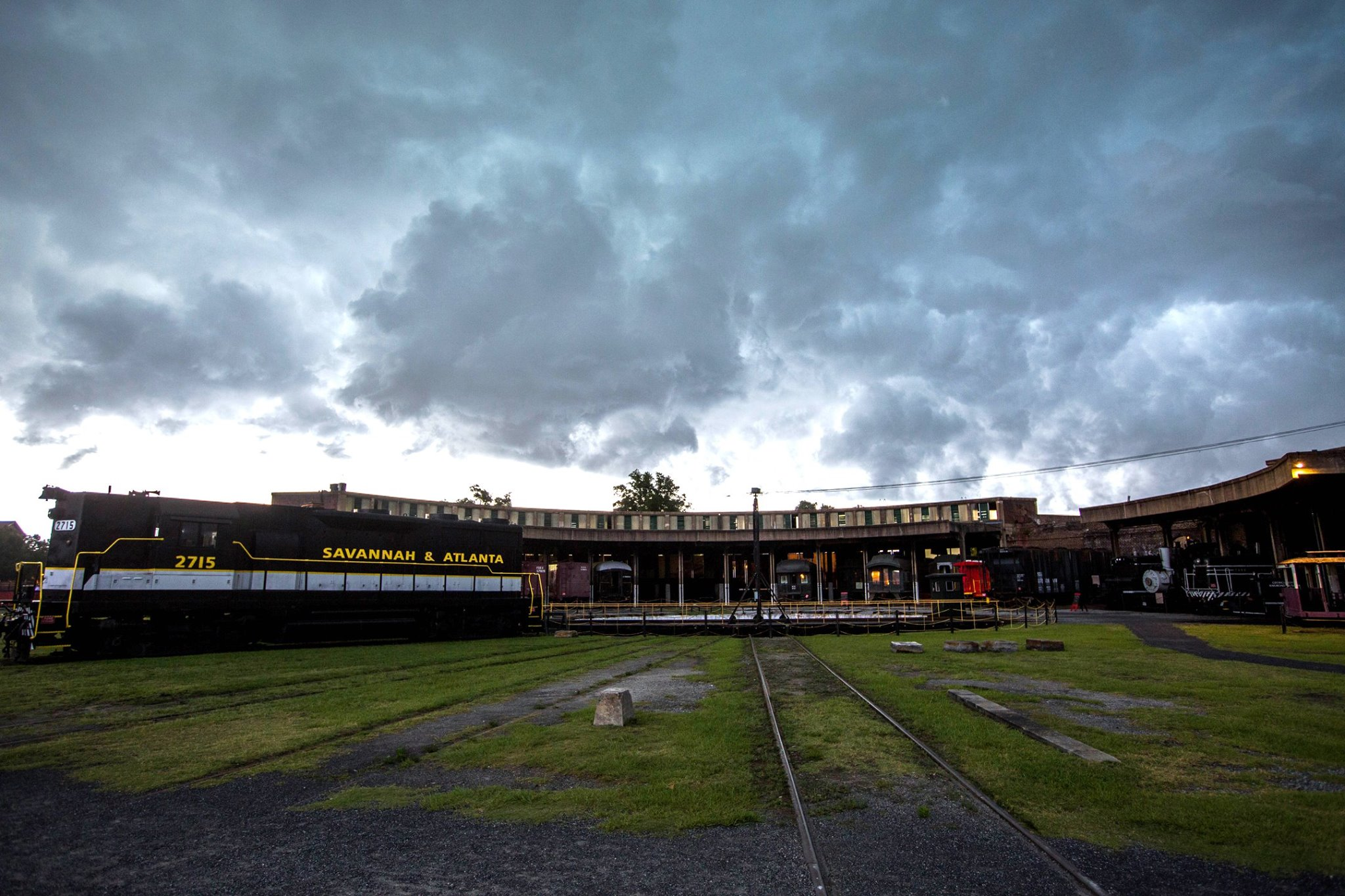 Georgia State Railroad Musuem Roundhouse Photo by Rich Burkhart