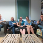 Sitting down with SCAD Historic Preservation students.