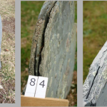 Slates in various states of delamination.